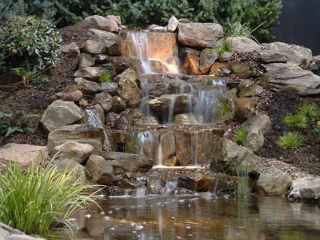Albion economic development unwind for Making a garden pond and waterfall