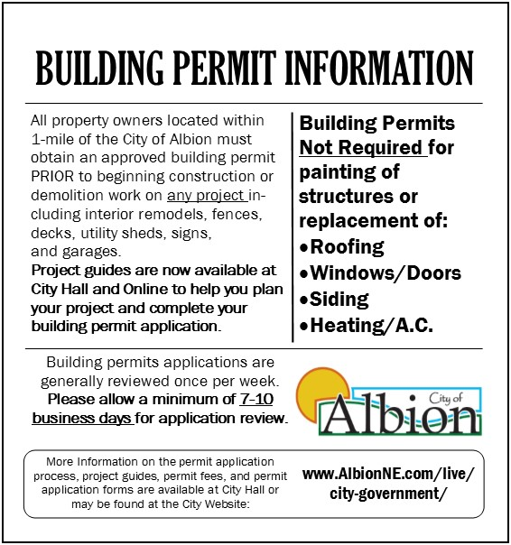 2017 - Building Permit Advertisement - pic