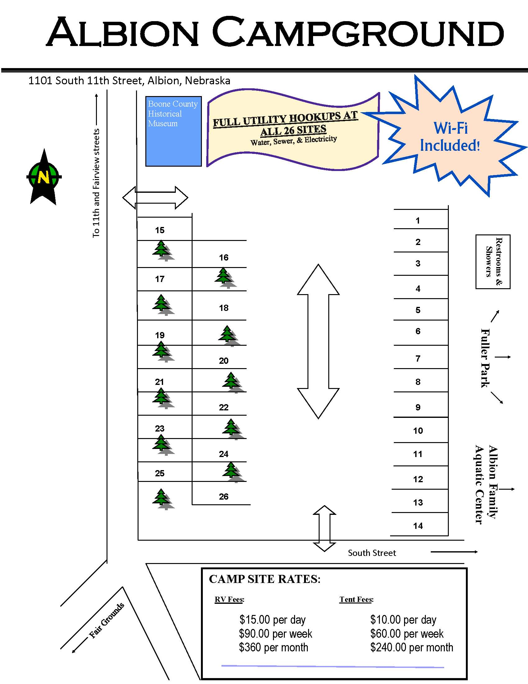 Albion Campground Map - 2018